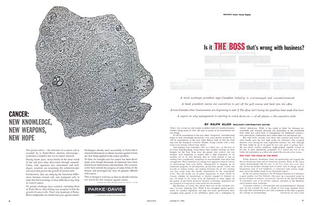 Article Preview: Is it THE BOSS that's wrong with business?, January 1962 | Maclean's