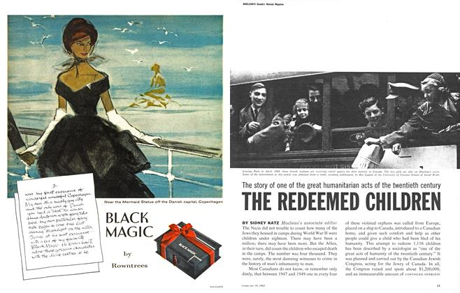 Article Preview: The story of one of the great humanitarian acts of the twentieth century THE REDEEMED CHILDREN, February 1962 | Maclean's