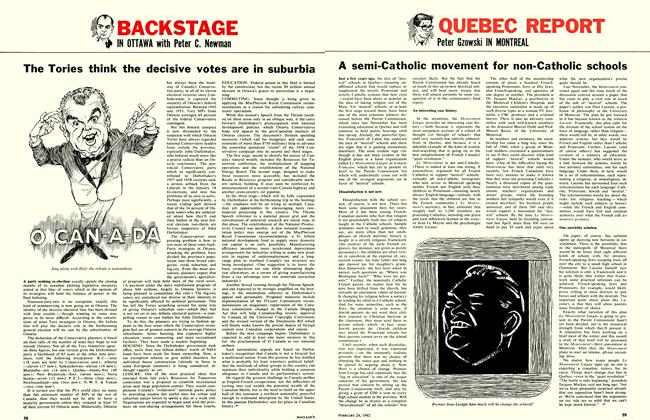 Article Preview: The Tories think the decisive votes are in suburbia, February 1962 | Maclean's