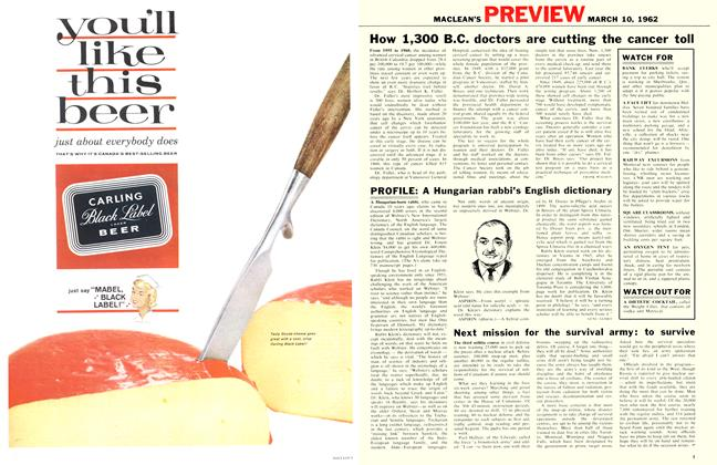 Article Preview: How 1,300 B.C. doctors are cutting the cancer toll, March 1962 | Maclean's