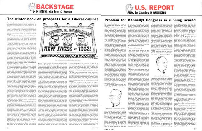 Article Preview: Problem for Kennedy: Congress is running scared, March 1962 | Maclean's