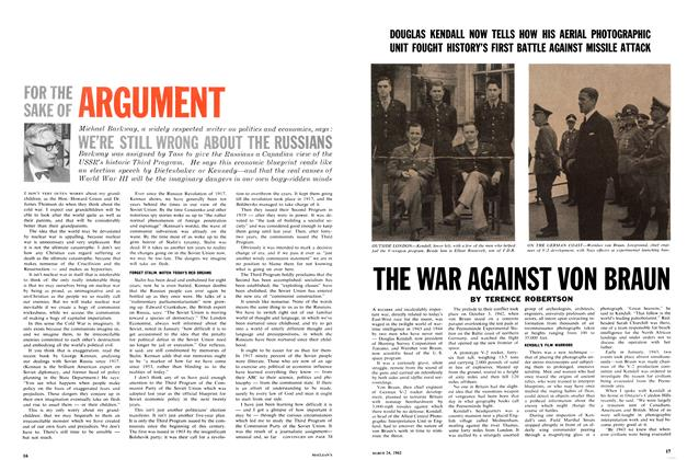 Article Preview: FOR THE SAKE OF ARGUMENT, March 1962 | Maclean's