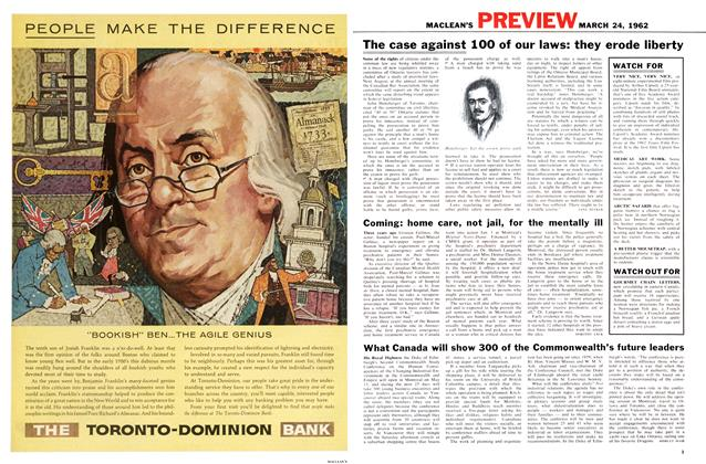 Article Preview: What Canada will show 300 of the Commonwealth's future leaders, March 1962 | Maclean's