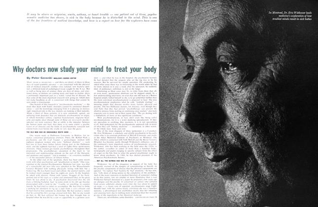 Article Preview: Why doctors now study your mind to treat your body, April 1962 | Maclean's