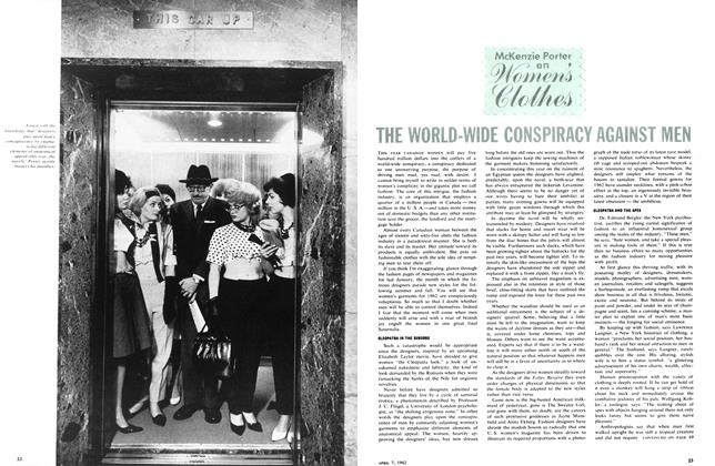 Article Preview: THE WORLD-WIDE CONSPIRACY AGAINST MEN, April 1962 | Maclean's