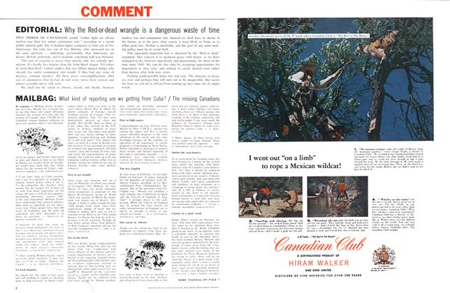 Article Preview: MAILBAG, April 1962 | Maclean's