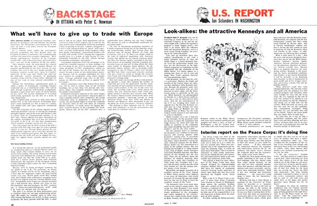 Article Preview: Interim report on the Peace Corps: it's doing fine, April 1962 | Maclean's
