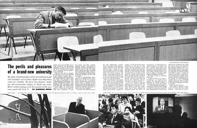 Article Preview: The perils and pleasures of a brand-new university, April 1962 | Maclean's