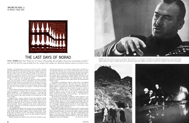 Article Preview: THE LAST DAYS OF NORAD, April 1962 | Maclean's