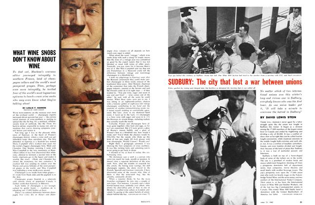 Article Preview: WHAT WINE SNOBS DON'T KNOW ABOUT WINE, April 1962 | Maclean's
