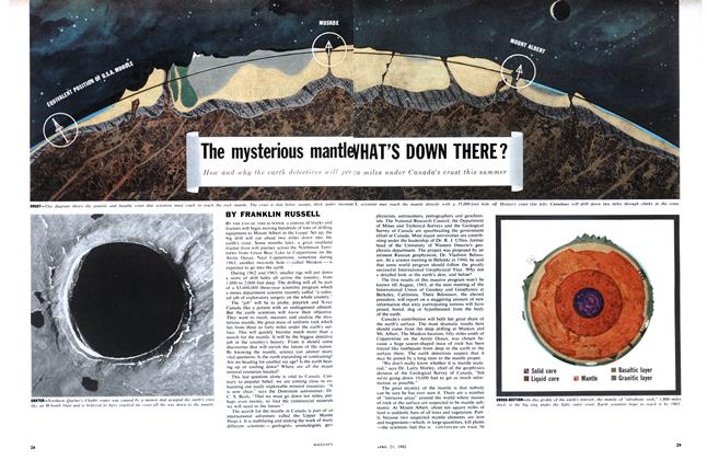 Article Preview: The mysterious mantle WHAT'S DOWN THERE?, April 1962 | Maclean's