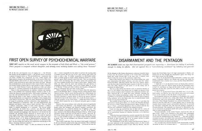 Article Preview: FIRST OPEN SURVEY OF PSYCHOCHEMICAL WARFARE, April 1962 | Maclean's