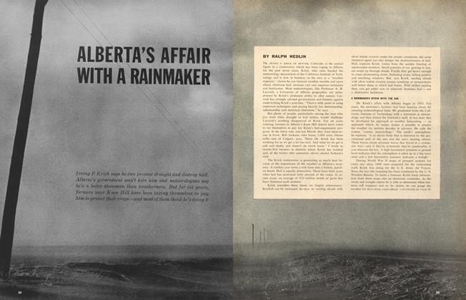 Article Preview: ALBERTA'S AFFAIR WITH A RAINMAKER, May 5,1962 1962 | Maclean's