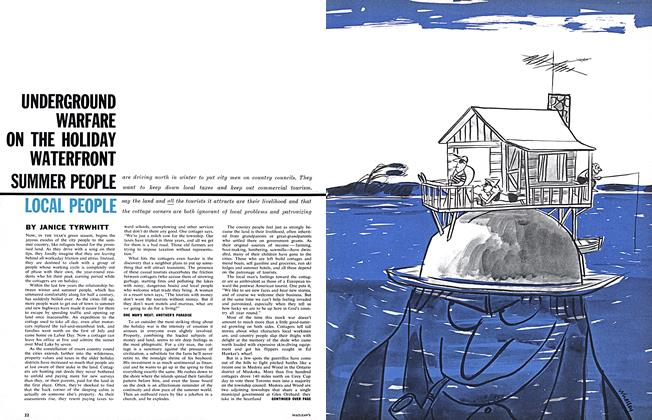 Article Preview: UNDERGROUND WARFARE ON THE HOLIDAY WATERFRONT SUMMER PEOPLE LOCAL PEOPLE, May 5,1962 1962 | Maclean's