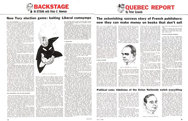 Article Preview: The astonishing success story of French publishers: now they can make money on books that don't sell, May 5,1962 1962 | Maclean's