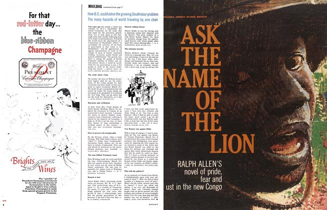 Article Preview: ASK THE NAME OF THE LION, May 5,1962 1962 | Maclean's