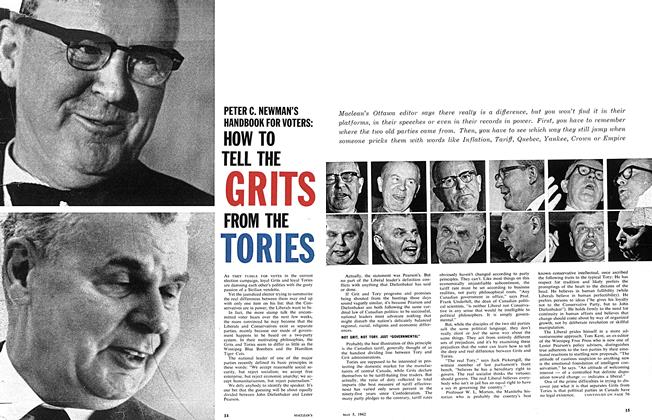 Article Preview: HOW TO TELL THE GRITS FROM THE TORIES, May 5,1962 1962 | Maclean's