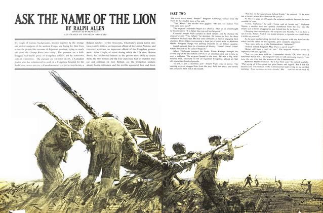 Article Preview: ASK THE NAME OF THE LION, May 1962 | Maclean's