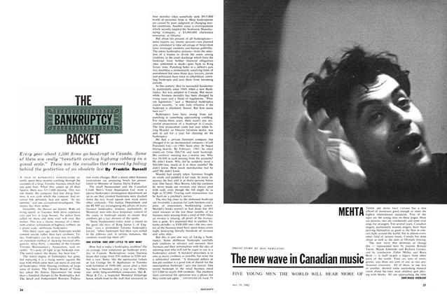 Article Preview: THE BANKRUPTCY RACKET, May 1962 | Maclean's