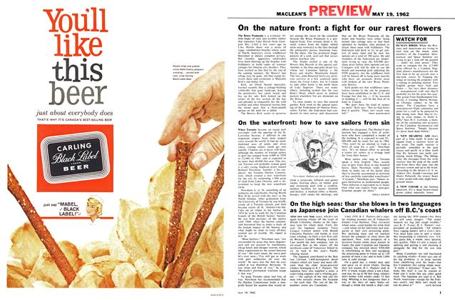 Article Preview: On the nature front: a fight for our rarest flowers, May 1962 | Maclean's