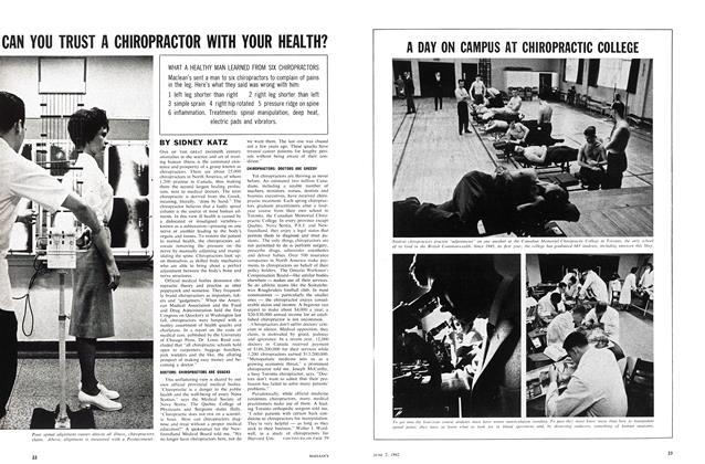 Article Preview: CAN YOU TRUST A CHIROPRACTOR WITH YOUR HEALTH?, June 1962 | Maclean's