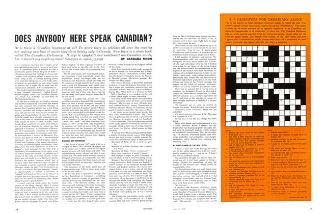 Article Preview: DOES ANYBODY HERE SPEAK CANADIAN?, June 1962 | Maclean's