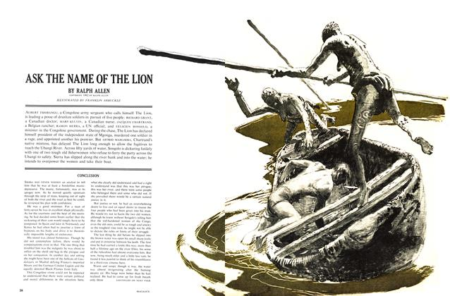 Article Preview: ASK THE NAME OF THE LION, June 1962 | Maclean's