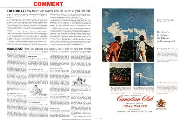 Article Preview: MAILBAG, June 1962 | Maclean's