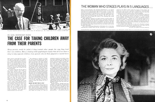 Article Preview: THE WOMAN WHO STAGES PLAYS IN 5 LANGUAGES... ...IN A POWDER KEG, June 1962 | Maclean's