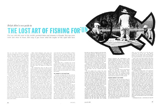 Article Preview: THE LOST ART OF FISHING FOR FUN, June 1962 | Maclean's