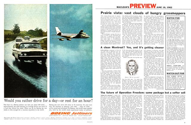 Article Preview: The future of Operation Freedom: same package but a softer sell, June 1962 | Maclean's