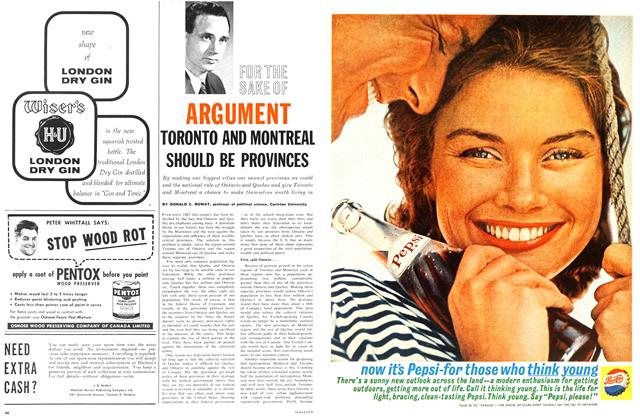 Article Preview: TORONTO AND MONTREAL SHOULD BE PROVINCES, June 1962 | Maclean's