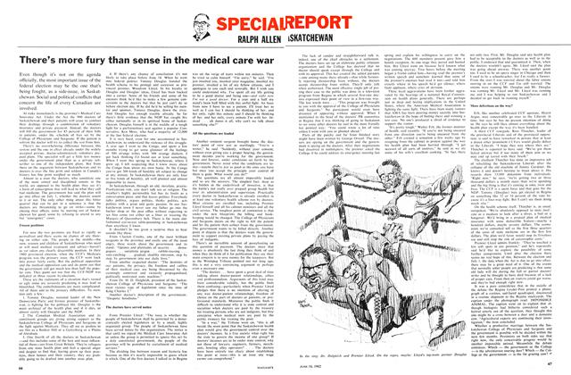 Article Preview: There's more fury than sense in the medical care war, June 1962 | Maclean's