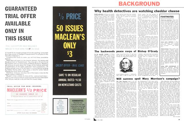 Article Preview: Will success spoil Mary Morrison's campaign?, June 1962 | Maclean's