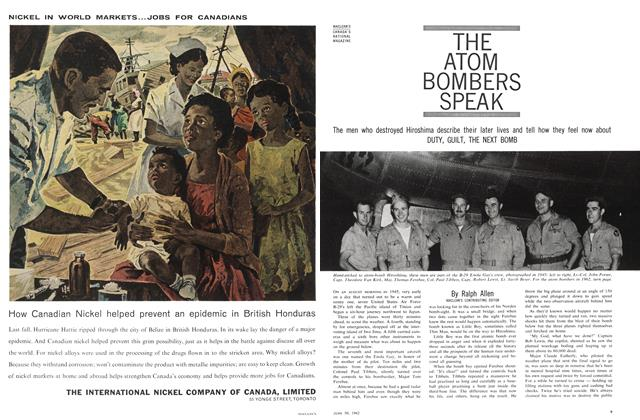 Article Preview: THE ATOM BOMBERS SPEAK, June 1962 | Maclean's