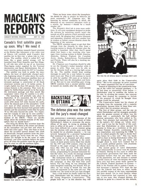 Issue: - July 1962   Maclean's