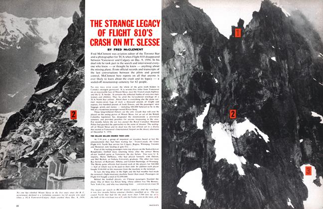 Article Preview: THE STRANGE LEGACY OF FLIGHT 810'S CRASH ON MT. SLESSE, July 1962 | Maclean's