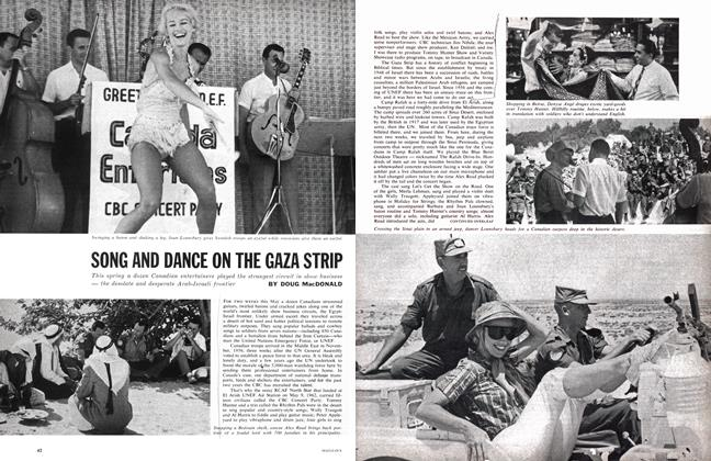 Article Preview: SONG AND DANCE ON THE GAZA STRIP, July 1962 | Maclean's
