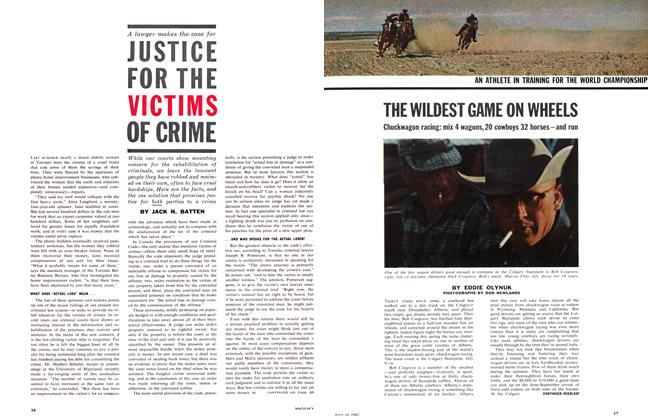 Article Preview: JSTICE FOR THE VICTIMS OF CRIME, July 1962 | Maclean's
