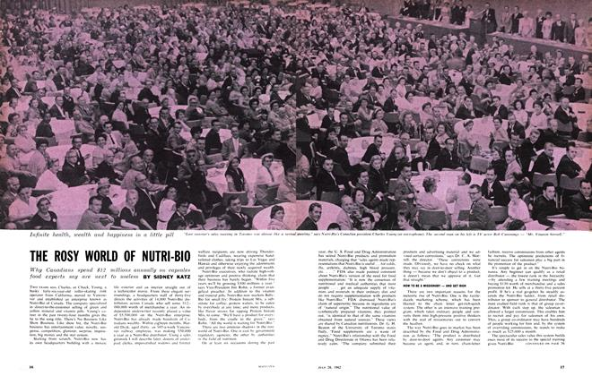 Article Preview: THE ROSY WORLD OF NUTRI-BIO, July 1962 | Maclean's