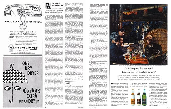 """Article Preview: """"Who could resist 7 mahogany doors at a dollar each? Not us."""", July 1962   Maclean's"""