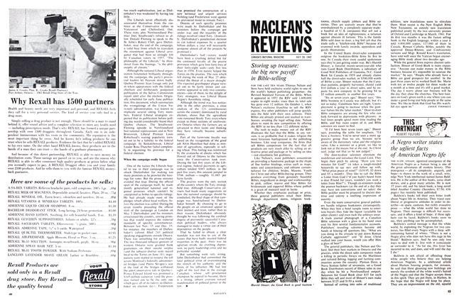 Article Preview: Storing up treasure: the big new payoff in Bible-selling, July 1962 | Maclean's