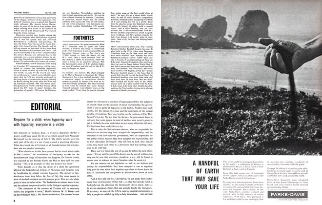 Article Preview: FOOTNOTES, July 1962 | Maclean's