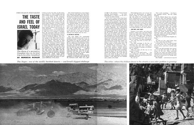 Article Preview: THE TASTE AND FEEL OF ISRAEL TODAY, August 1962 | Maclean's