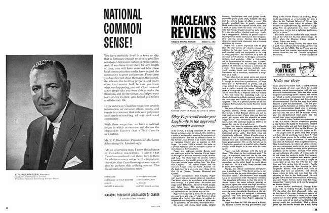Article Preview: THIS FORTNIGHT, August 1962 | Maclean's