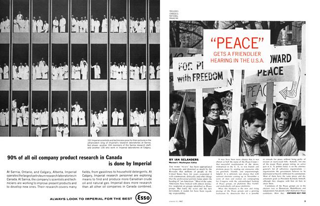 "Article Preview: ""PEACE"" GETS A FRIENDLIER HEARING IN THE U.S.A., August 1962 