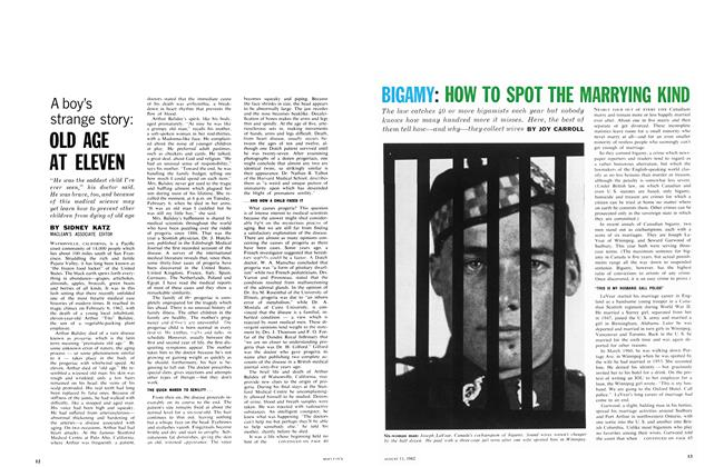 Article Preview: BIGAMY: HOW TO SPOT THE MARRYING KIND, August 1962 | Maclean's