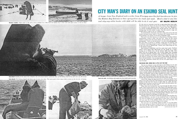 Article Preview: CITY MAN'S DIARY ON AN ESKIMO SEAL HUNT, August 1962 | Maclean's