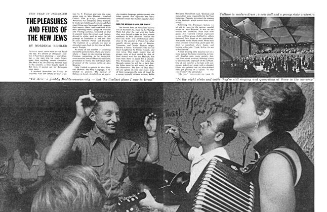 Article Preview: THE PLEASURES AND FEUDS OF THE NEW JEWS, August 1962 | Maclean's