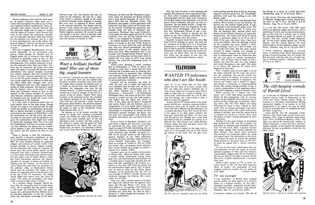 Article Preview: ON SPORT, August 1962 | Maclean's